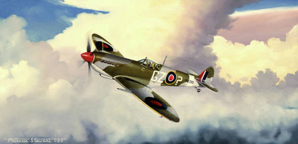Wall Art - Painting - Spitfire by Marc Stewart