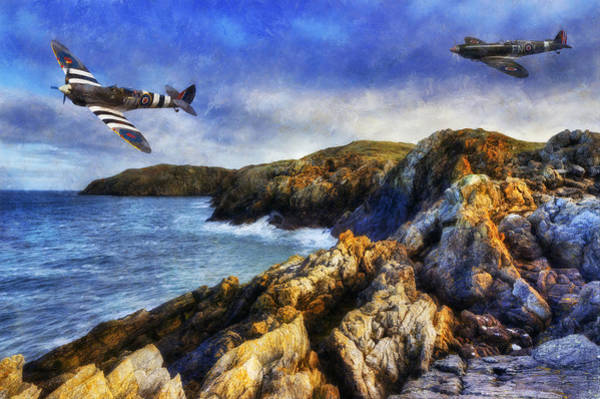 Photograph - Spitfire On The Coast by Ian Mitchell