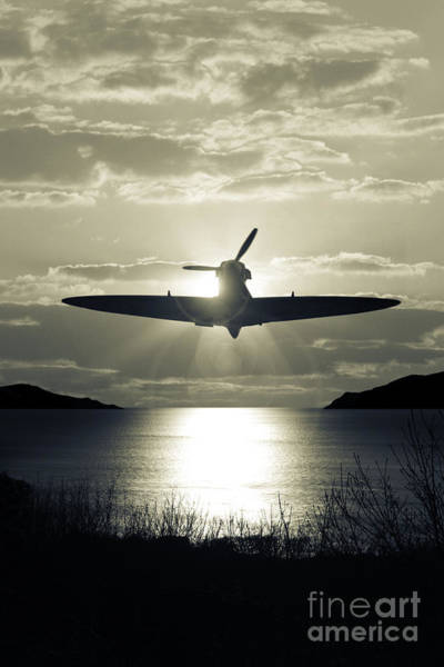 Photograph - Spitfire Over Lake by Clayton Bastiani