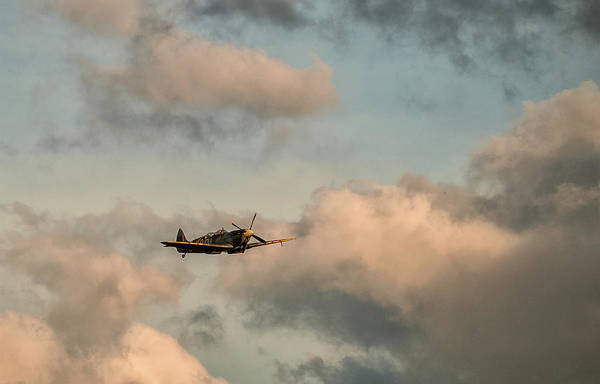 Photograph - Spitfire Over The Skis  by Cliff Norton