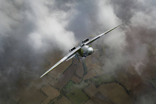 Photograph - Spitfire Pr Xix Ps915 Looping by Gary Eason