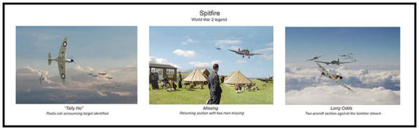 Wall Art - Digital Art - Spitfire - Story Board by Pat Speirs