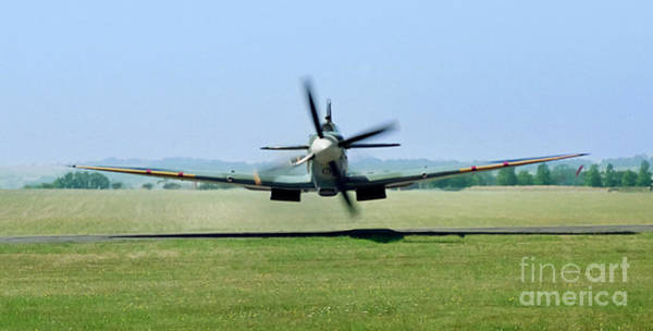 Wall Art - Photograph - Spitfire Surprise   Close Up by Martin At Gemini Pictures