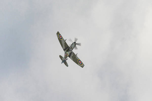 Photograph - Spitfire Xive In Flight by Gary Eason