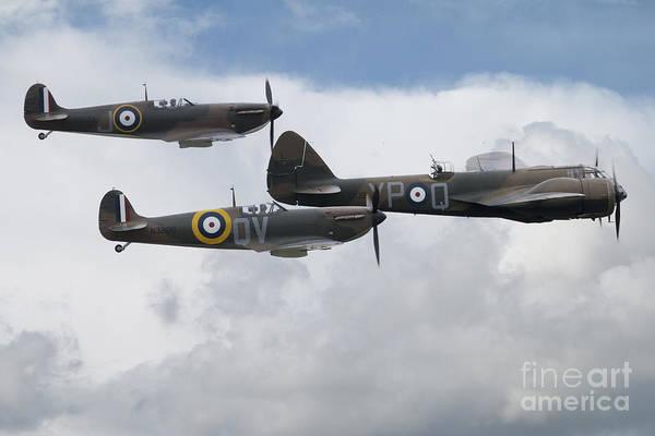 Blenheim Digital Art - Spitfires An Bristol Blenheim by J Biggadike