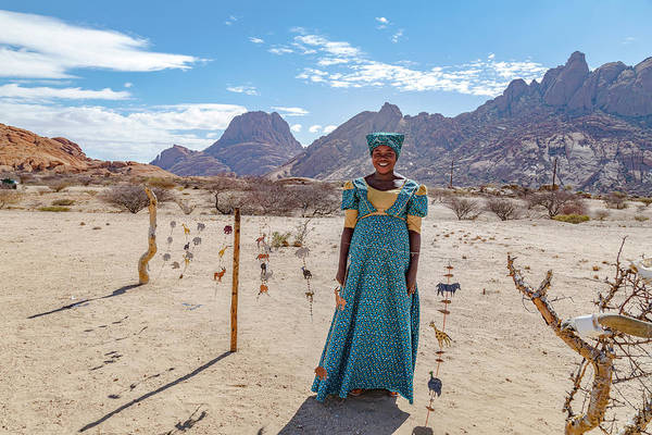 Tribal Woman Wall Art - Photograph - Spitzkoppe - Namibia by Joana Kruse