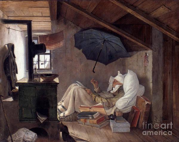 Photograph - Spitzweg: Poor Poet, 1839 by Granger