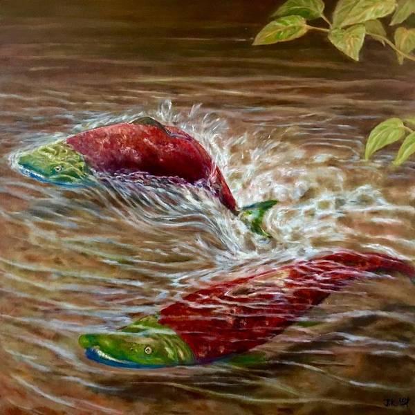 Wall Art - Painting - Splash by Jennifer Kwon
