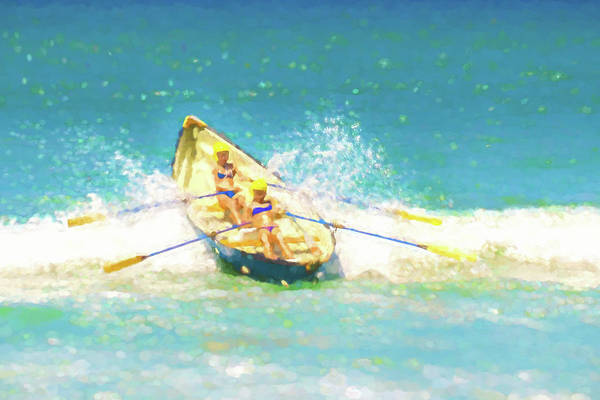 Digital Art - Splash Lifeboat Race Watercolor by Scott Campbell