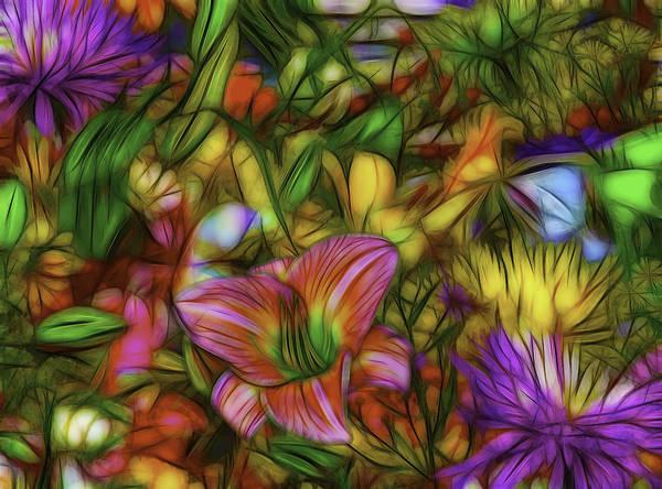 Fleur Digital Art - Splash Of Color by Jean-Marc Lacombe