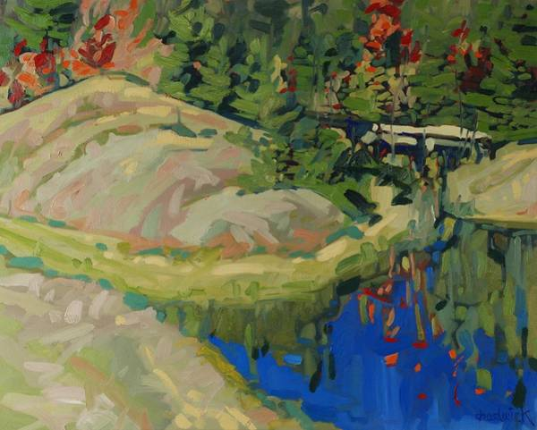 Watershed Painting - Splash Of Fall by Phil Chadwick