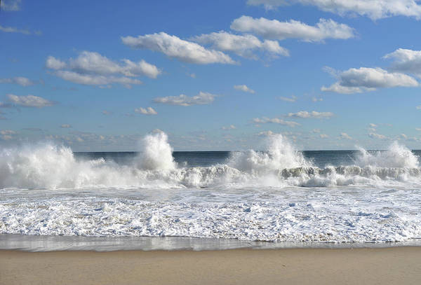 Photograph - Splash Waves Brielle New Jersey by Terry DeLuco
