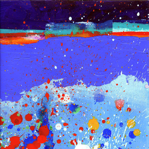 Abstract Acrylic Painting - Splash#5 by Jane Davies