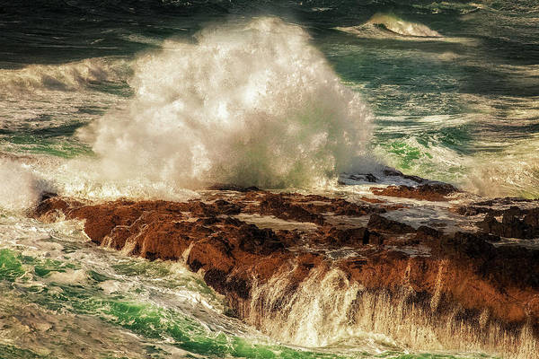 Cape Perpetua Wall Art - Photograph - Splashing Sea by Andrew Soundarajan