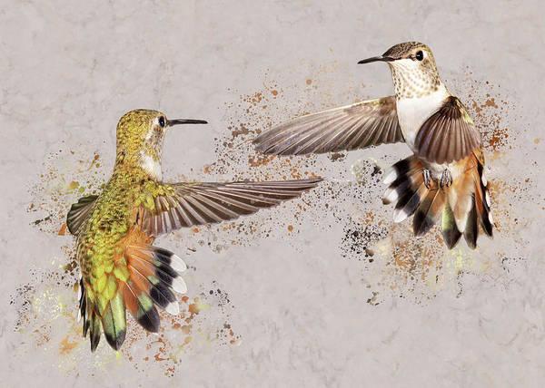 Photograph - Splatter Wars I by Leda Robertson