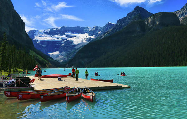 Photograph - Splendid Beauty Of Lake Louise by Ola Allen