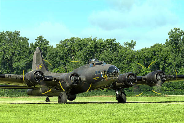 Bomber Photograph - Splendor In The Grass B-17 by Peter Chilelli