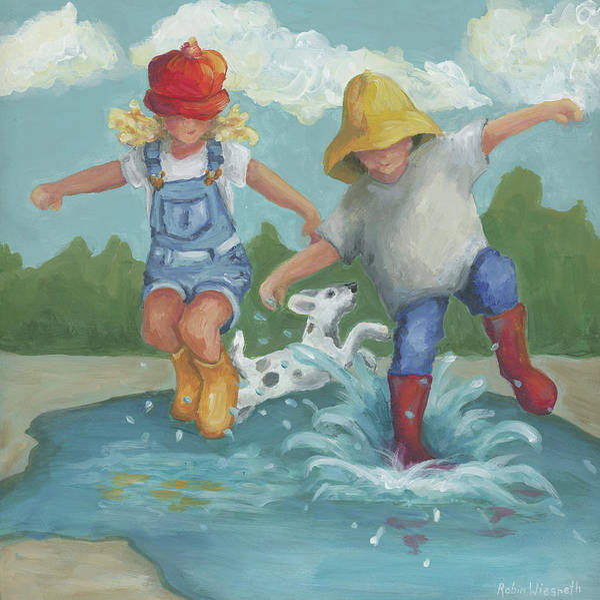 Wall Art - Painting - Splish Splash by Robin Wiesneth