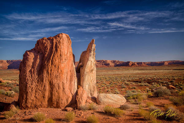 Photograph - Split Boulder At Valley Of The Gods, by Rikk Flohr