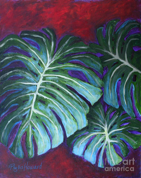 Painting - Split Leaf Philodendron by Phyllis Howard