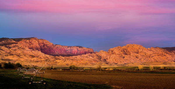 Photograph - Split Mountain Sunset by TL Mair
