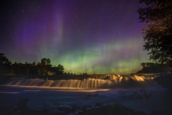 Photograph - Split Rock Aurora by Aaron J Groen