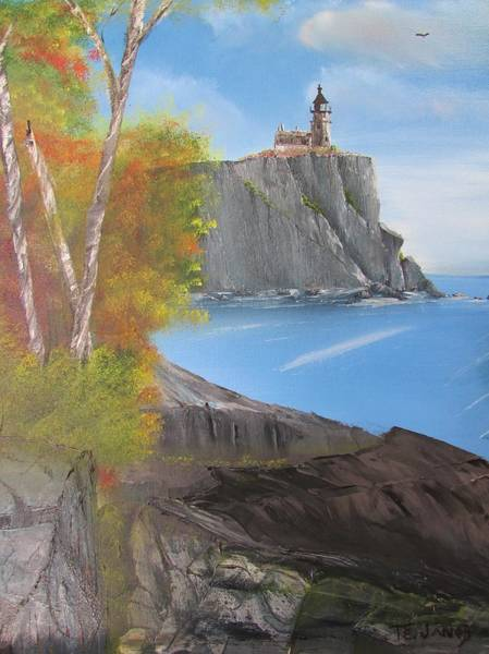 Painting - Split Rock Lighthouse Minnesota by Thomas Janos