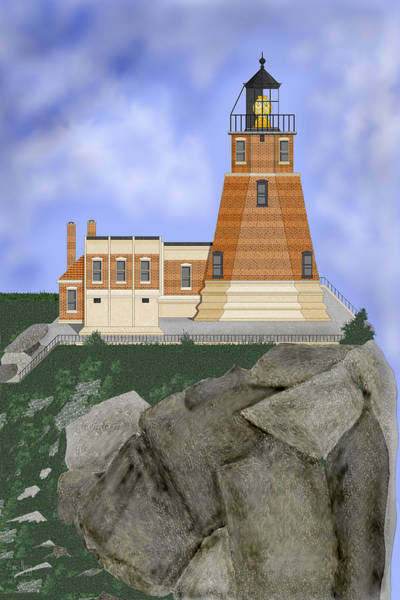 Wall Art - Painting - Split Rock Lighthouse On The Great Lakes by Anne Norskog