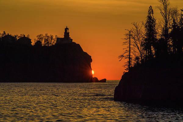 Wall Art - Photograph - Split Rock Sunrise by Paul Freidlund