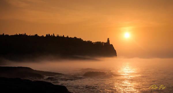 Photograph - Split Rock's Morning Glow by Rikk Flohr