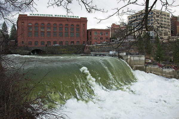 Wall Art - Photograph - Spokane Falls Record Runoff 2017 by Daniel Hagerman