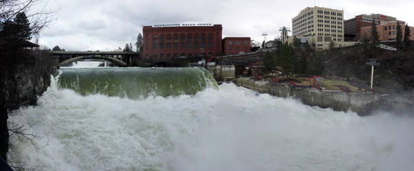 Wall Art - Photograph - Spokane Falls Record Runoff by Daniel Hagerman