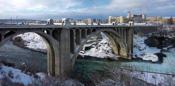 Wall Art - Photograph - Spokane Monroe Street Bridge Panorama by Daniel Hagerman