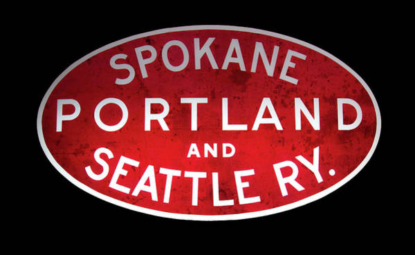 Wall Art - Mixed Media - Spokane, Portland And Seattle Railway Sign  by Daniel Hagerman