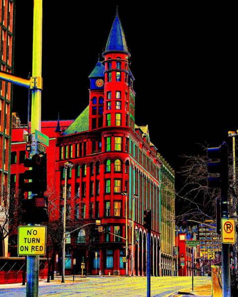 Spokane Digital Art - Spokane Turns Red by Ben Upham III
