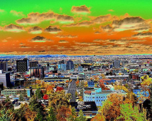 Photograph - Spokane Washington Earth by Ben Upham III