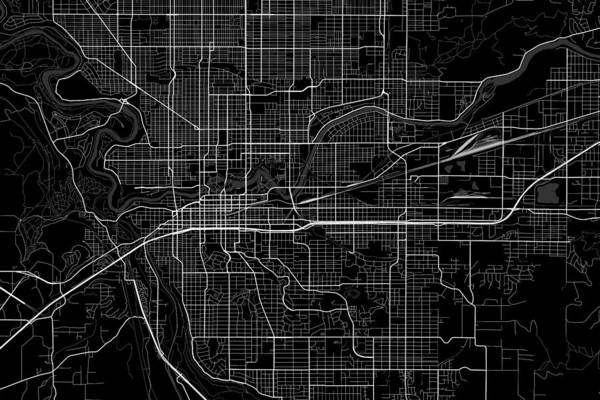 Spokane Digital Art - Spokane Washington Usa Dark Map by Jurq Studio