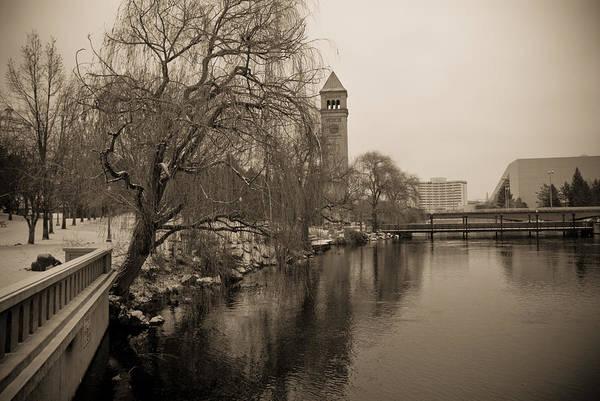 Spokane Digital Art - Spokane Winter by Craig Perry-Ollila