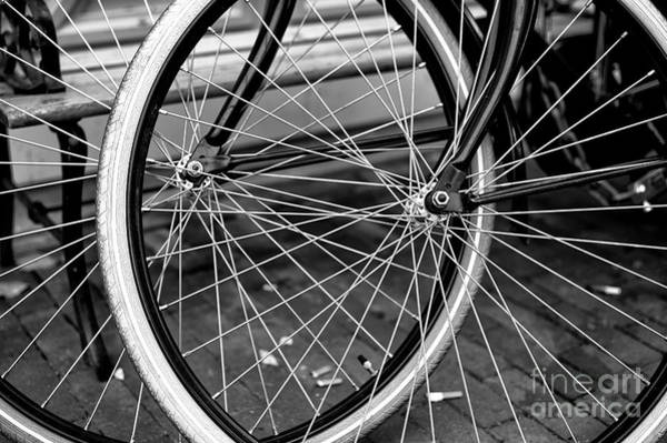 Photograph - Spokes Mono by John Rizzuto