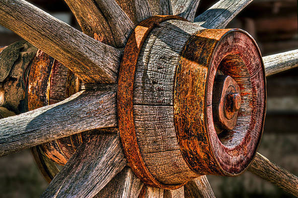 Photograph - Spokes by Peter Kennett