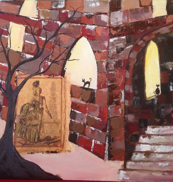 Architecture Painting - Spooked by Roxy Rich