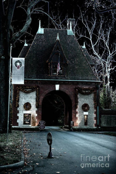 Photograph - Spooky Biltmore Main Gate Entrance by Dale Powell