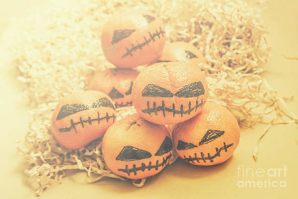 Evil Photograph - Spooky Halloween Oranges by Jorgo Photography - Wall Art Gallery