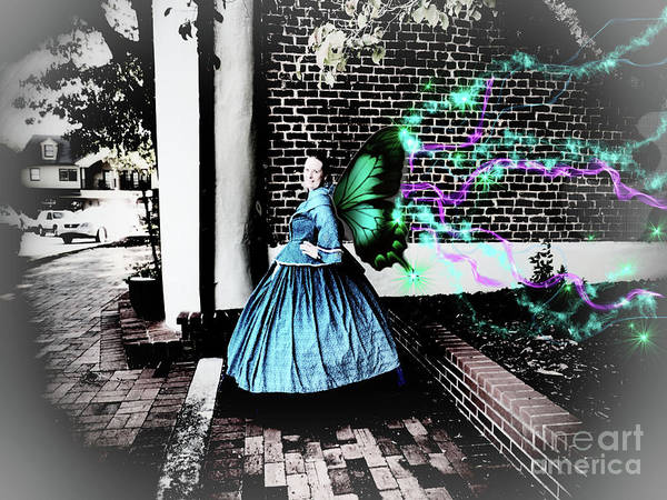 Digital Art - Spooky Historic Butterfly Dahlonega  by Nicole Angell