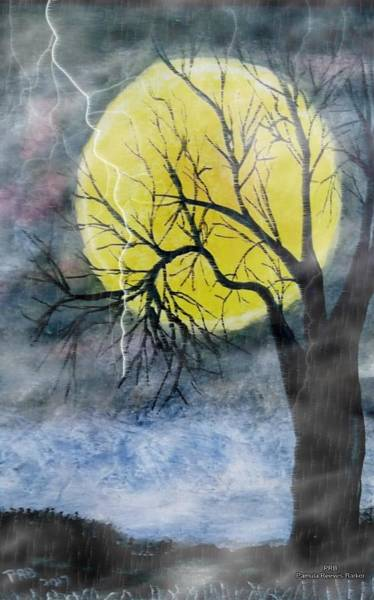 Prb Mixed Media - Spooky Storm by Pamula Reeves-Barker