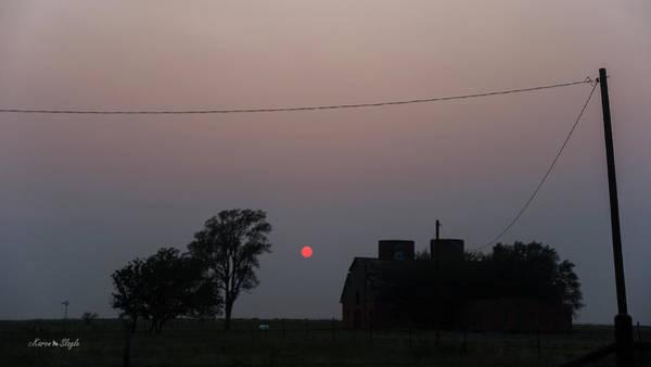 Photograph - Spooky Sunset by Karen Slagle