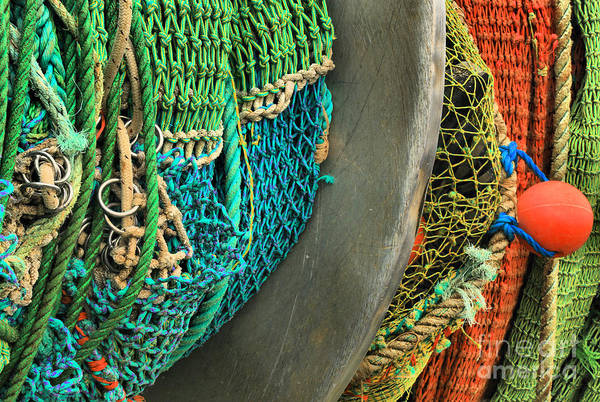 Photograph - Spooled Fishing Nets by Adam Jewell