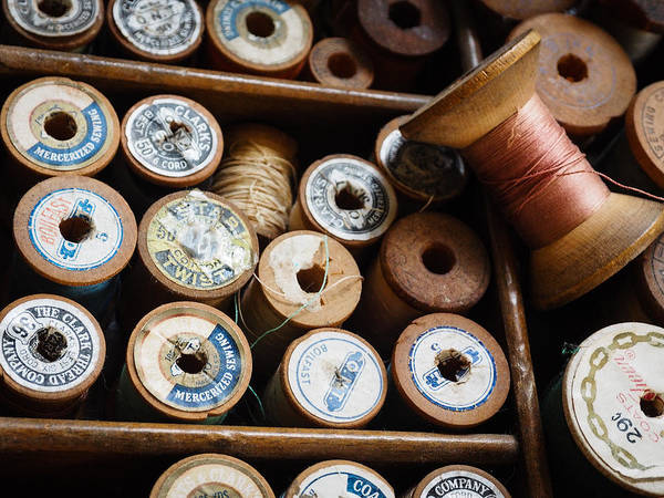 Photograph - Spools Of Thread by Robin Zygelman