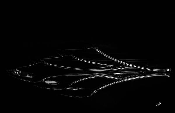 Photograph - Spoons - Black And White by Elijah Knight