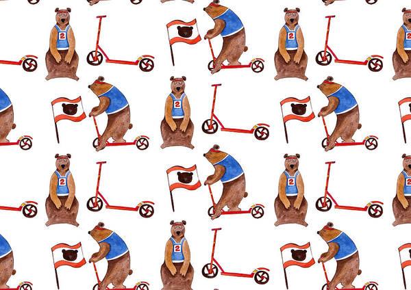 Sportsman Digital Art - Sport Bears by Anastasia Stepanova